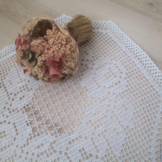 Текстиль, ковры ручной работы. Ярмарка Мастеров - ручная работа. Купить Филейная салфетка Винтажные Розы связанная крючком. Handmade.