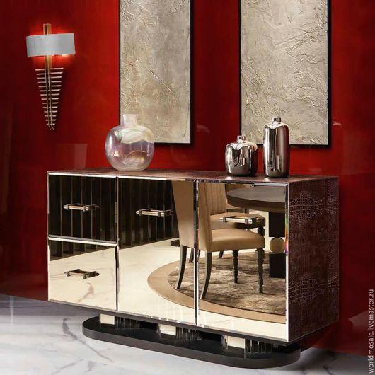 Мебель ручной работы. Ярмарка Мастеров - ручная работа. Купить Комод зеркальный, бронзовый. Handmade. Коричневый, бронзовый цвет, бронзовый