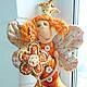 Коллекционные куклы ручной работы. orange Дуся принцессная. Бурдакова Надя (nnnadka). Ярмарка Мастеров. Кукла в подарок, кукла текстильная