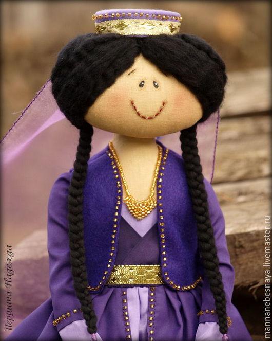 Ароматизированные куклы ручной работы. Ярмарка Мастеров - ручная работа. Купить Девочка в восточном наряде. Ароматизированная кукла. Handmade. Фиолетовый