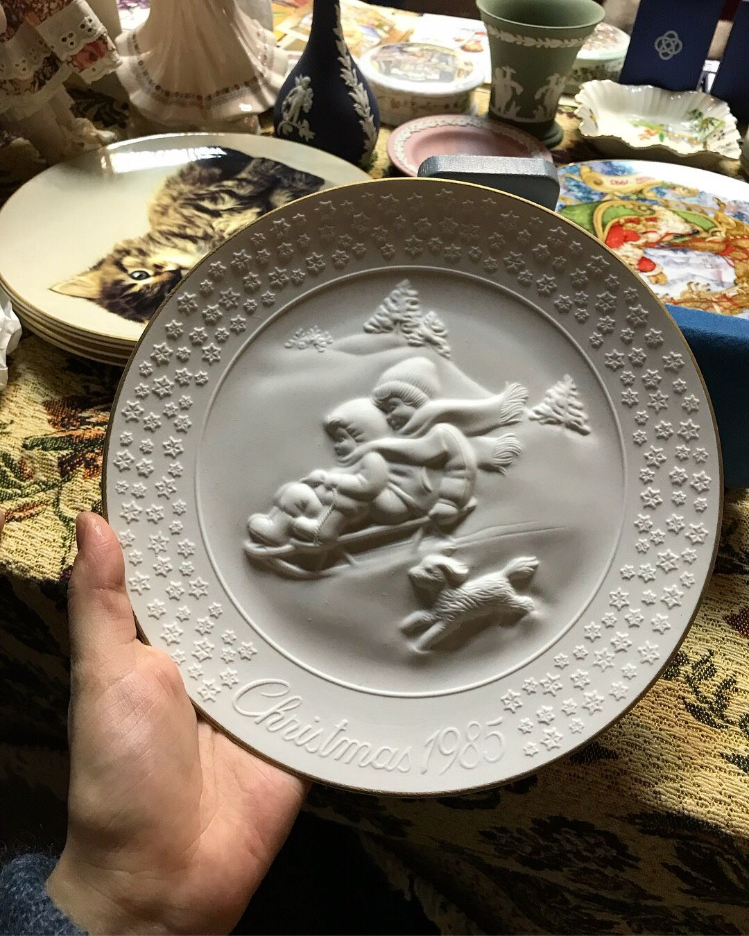 Christmas plate 1985. AVON, Vintage interior, Moscow,  Фото №1