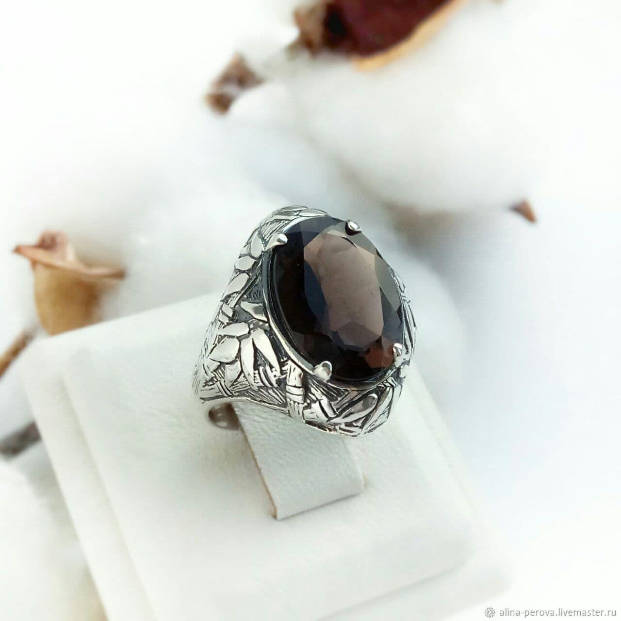 "Перстень серебро ""Бамбук"" раухтопаз, Перстень, Кострома,  Фото №1"