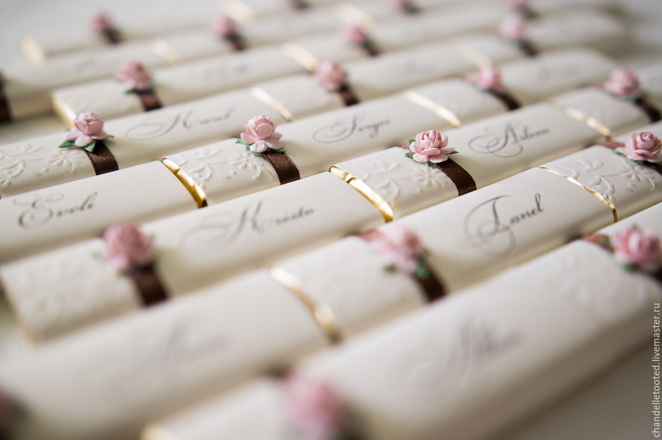 Wedding Place Cards Milk Chocolate Chocolate Wedding Gift Dinner