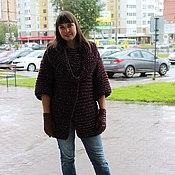Одежда handmade. Livemaster - original item Cardigan and Snood chunky knit. Handmade.