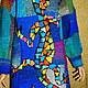 """Кофты и свитера ручной работы. Платье -джемпер """"Саламандра Гауди"""". Анна Лесникова         Luxury style. Ярмарка Мастеров. Джемпер вязаный"""