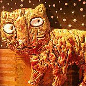 Картины и панно ручной работы. Ярмарка Мастеров - ручная работа Кот на коврике. Handmade.