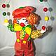 Куклы и игрушки ручной работы. Клоун Милашка!!!. Любовь Токарева (Tokareva1987). Ярмарка Мастеров. Подарок на день рождения, лён, замша