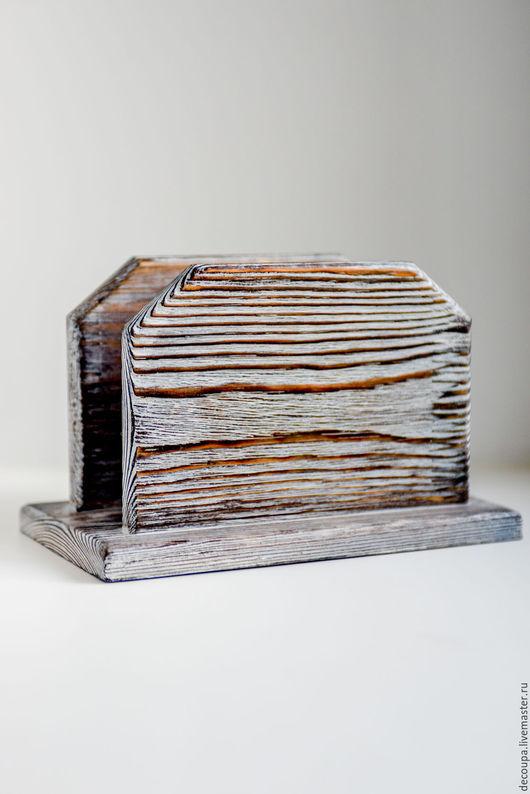 """Кухня ручной работы. Ярмарка Мастеров - ручная работа. Купить Салфетница """"Rustic"""". Handmade. Серый, лофт, салфетница ручной работы"""