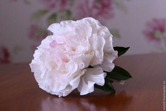 Заколка автомат,заколка для волос,заколка с цветами,заколка-цветок,заколка с цветком пиона,украшение с цветами,украшение для волос,пион.Зарифа Пирогова(viola8).