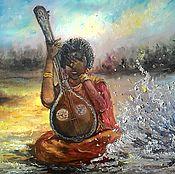Картины и панно ручной работы. Ярмарка Мастеров - ручная работа Картина маслом Любимая Индия. Handmade.