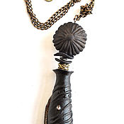"""Украшения handmade. Livemaster - original item Copy of Copy of Porcelain pendant """"Nymphalide"""". Handmade."""
