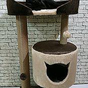Когтеточки ручной работы. Ярмарка Мастеров - ручная работа Когтеточка домик Игровой Комплекс для кошек (  для крупных пород). Handmade.