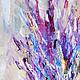Картина маслом `lavender with love` 30/40 см фрагмент
