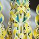 """Свадебные аксессуары ручной работы. Семейный очаг """"Бабочки"""". Ткачук Татьяна TTCandle. Интернет-магазин Ярмарка Мастеров. Голубой"""