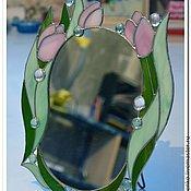 """Для дома и интерьера ручной работы. Ярмарка Мастеров - ручная работа Зеркало """"Тюльпаны"""". Handmade."""