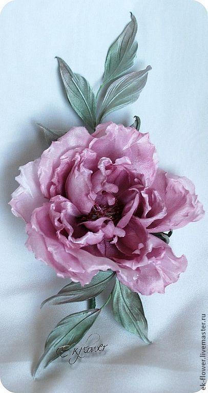 """Цветы ручной работы. Ярмарка Мастеров - ручная работа. Купить Цветы из шелка. Цветок-брошь Роза """"Карлин"""". Handmade. Цветы"""