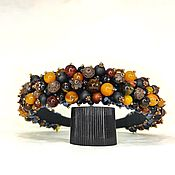 Украшения handmade. Livemaster - original item The rim of beads and stones (Agate, Tiger`s eye, Shungite). Handmade.