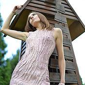 Одежда handmade. Livemaster - original item Beige dress of Merino and silk. Handmade.