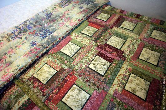Текстиль, ковры ручной работы. Ярмарка Мастеров - ручная работа. Купить Лоскутное одеяло Сказочная поляна. Handmade. Разноцветный, цветочный