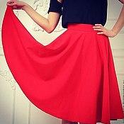 Одежда ручной работы. Ярмарка Мастеров - ручная работа Красная юбка-солнце. Handmade.