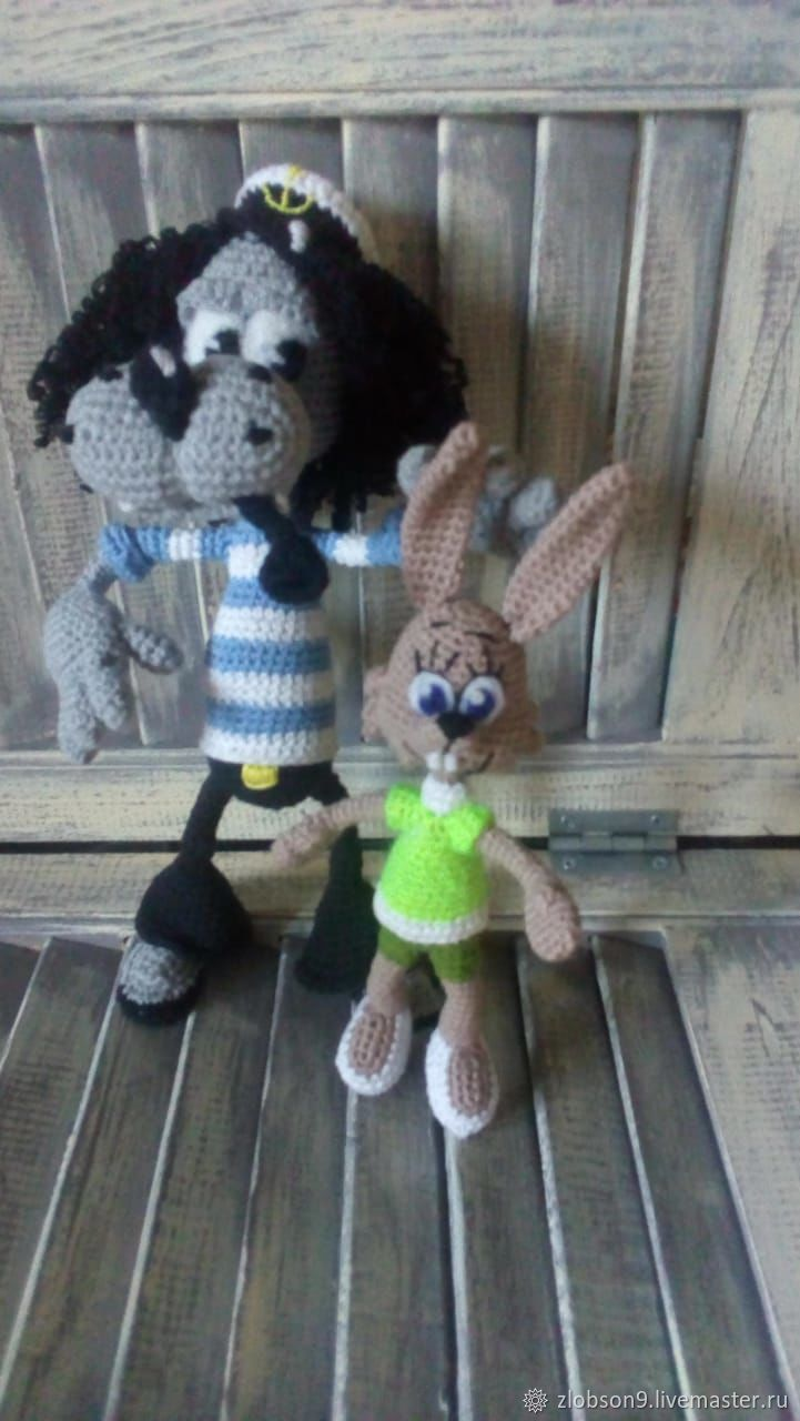 Wolf and Hare from 'Nu pogodi!', Stuffed Toys, Kirov,  Фото №1