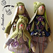 Куклы и игрушки ручной работы. Ярмарка Мастеров - ручная работа Тильды Семейство зайцев. Handmade.