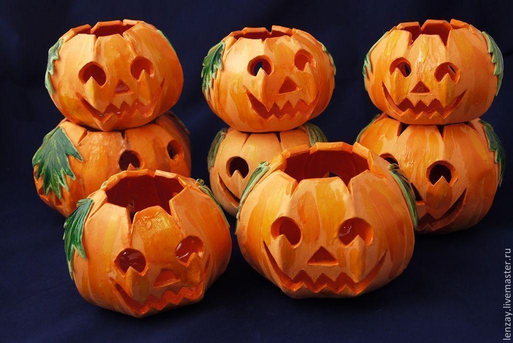 Подсвечники Halloween 9 - 14 см. Ажурная керамика Елены Зайченко