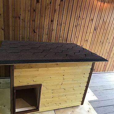 Товары для питомцев ручной работы. Ярмарка Мастеров - ручная работа Будка утепленная для собак. Handmade.