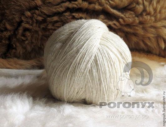 Вязание ручной работы. Ярмарка Мастеров - ручная работа. Купить Пряжа шерстяная овечья светлая (1 кг). Handmade. Белый