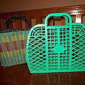 Винтаж handmade. Livemaster - original item Vintage bags: wicker basket. Handmade.