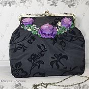 Сумки и аксессуары handmade. Livemaster - original item Bag with clasp: Lilac roses. Handmade.