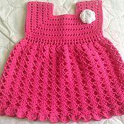 Работы для детей, ручной работы. Ярмарка Мастеров - ручная работа Платье розовое летнее. Handmade.