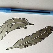 Материалы для творчества ручной работы. Ярмарка Мастеров - ручная работа Нож для вырубки Перья (2 шт). Handmade.