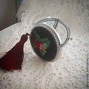 """Зеркала ручной работы. Ярмарка Мастеров - ручная работа Косметическое зеркальце  """"Маркиза Помпадур"""". Handmade."""
