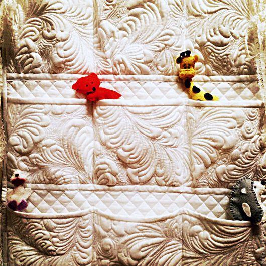 Для новорожденных, ручной работы. Ярмарка Мастеров - ручная работа. Купить Кармашек для кроватки.. Handmade. Белый, кармашки в детскую, quilting
