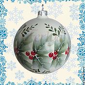 """Подарки к праздникам ручной работы. Ярмарка Мастеров - ручная работа елочный шар """"Зимние ягоды"""". Handmade."""