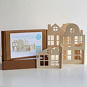 """Куклы и игрушки ручной работы. Ярмарка Мастеров - ручная работа Конструктор-город """"Юный архитектор"""" из дерева. Handmade."""
