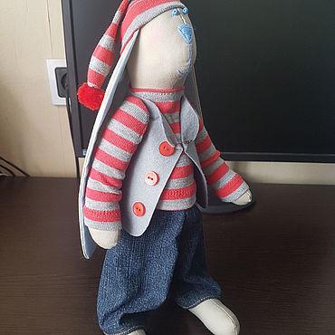 Куклы и игрушки ручной работы. Ярмарка Мастеров - ручная работа Тильды: Зайка  Томас. Handmade.