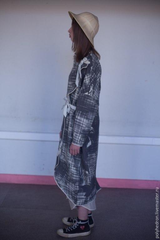 Верхняя одежда ручной работы. Ярмарка Мастеров - ручная работа. Купить ono-kimono. Handmade. Бежевый, японский стиль