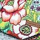 Сумки и аксессуары ручной работы. Там на невеДомыХ дорожкаХ..)) сумка саквоЯж лето цветы голубой красный. Sava Dama. Ярмарка Мастеров.