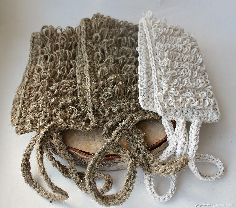 A set of sponges of the family 'Mom, dad, I', Washcloths, Vologda,  Фото №1