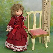 Куклы и игрушки ручной работы. Ярмарка Мастеров - ручная работа Кукла миниатюрная  подвижная 1:12 На  прозрачной подставке. Handmade.