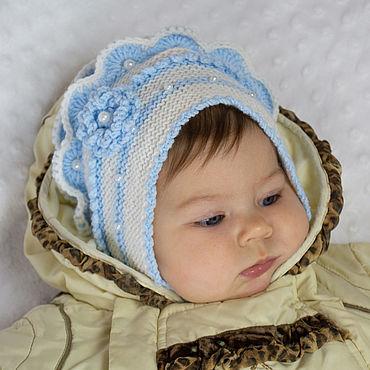 Аксессуары ручной работы. Ярмарка Мастеров - ручная работа Шапочка для девочки. Шапочки для новорожденных .Шапочка вязанная. Handmade.