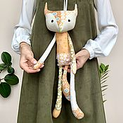 Куклы и игрушки handmade. Livemaster - original item Patchwork fox Tilda - a toy made of fabric. Handmade.