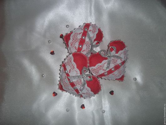 Текстильные Сердечки Sisi  Цена указана за шт