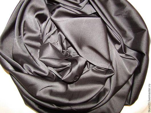 Шитье ручной работы. Ярмарка Мастеров - ручная работа. Купить Атлас шелк стрейч арт.14 АТШ-8 (Корея) черный. Handmade.