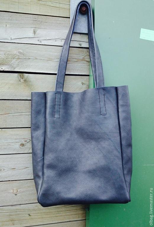 Мужские сумки ручной работы. Ярмарка Мастеров - ручная работа. Купить Кожаная сумка. Handmade. Тёмно-синий
