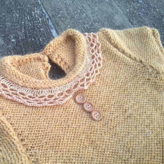 Одежда для девочек, ручной работы. Ярмарка Мастеров - ручная работа. Купить Платье 9-12 мес. Handmade. Бежевый, для девочки