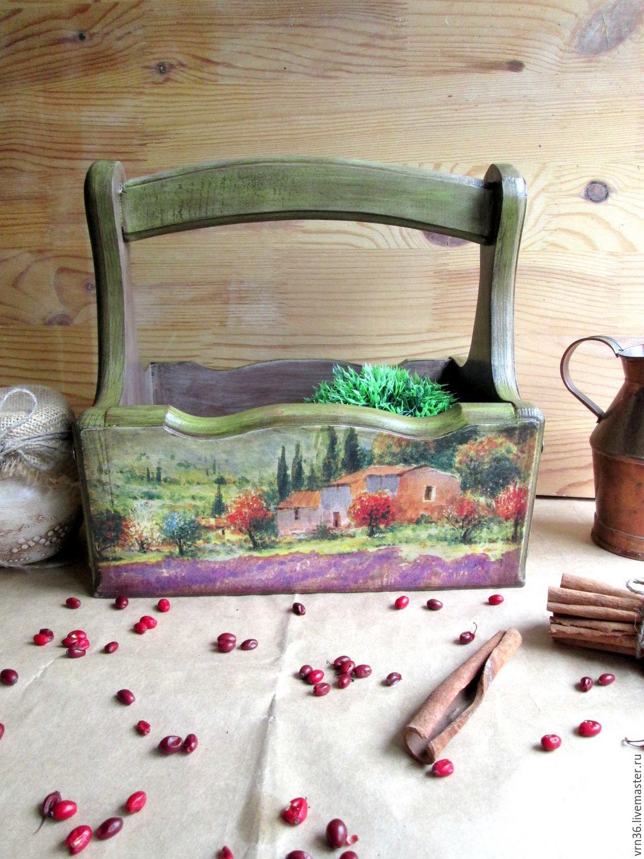 Basket 'Holiday in Tuscany' (cedar), Basket, Voronezh,  Фото №1