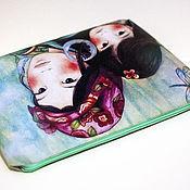 Материалы для творчества ручной работы. Ярмарка Мастеров - ручная работа Термотрансфер - выкройка для сумки-клатча. Handmade.